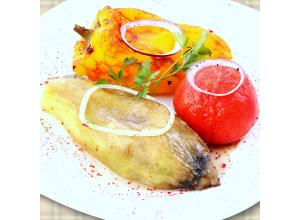 Шашлык из овощей (перец, баклаж., помидор)